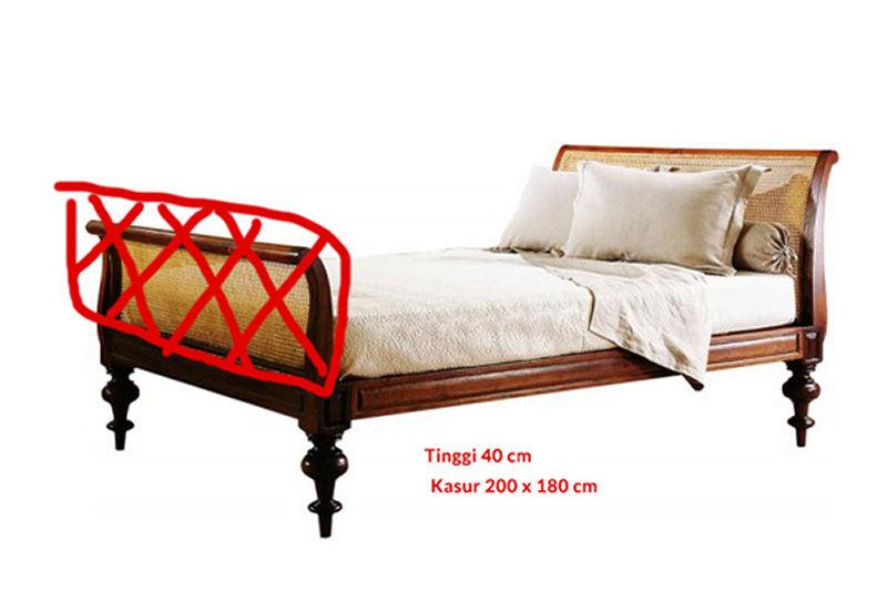 Foto tempat tidur desain kustom kiriman pelanggan
